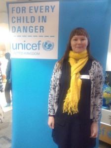 Toria at Unicef